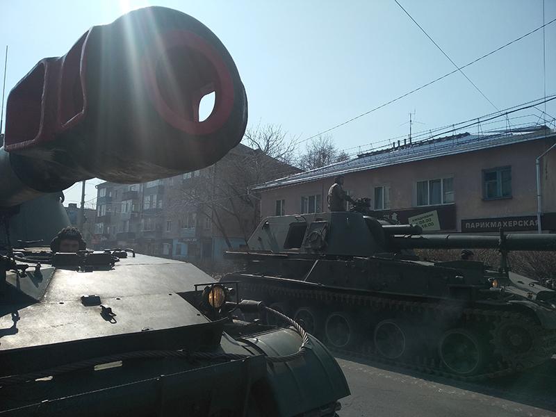 В Белогорске состоялась тренировка парада Победы