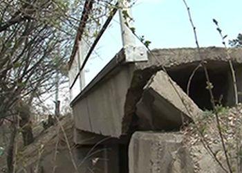 В Белогорске не исключено обрушение моста через реку Кирьяниха