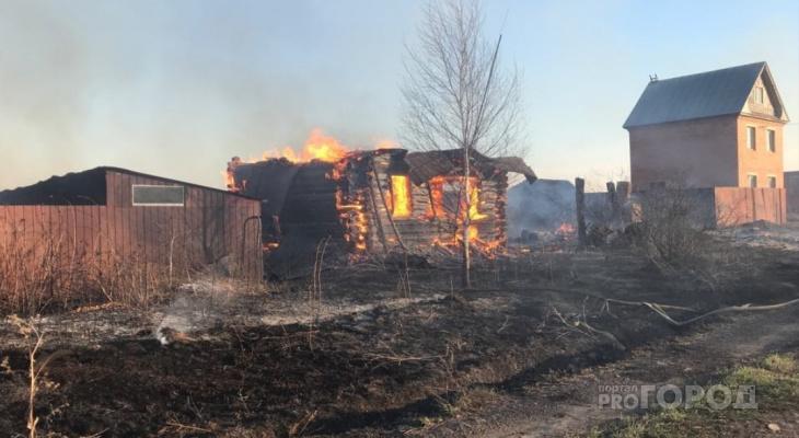 В Чувашии за сутки зарегистрировали 9 пожаров