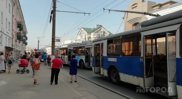 Буйный дедушка парализовал движение троллейбусов в центре Чебоксар
