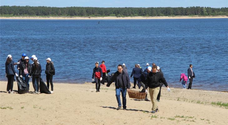 В Новочебоксарске чиновники и волонтеры убрались на берегу Волги