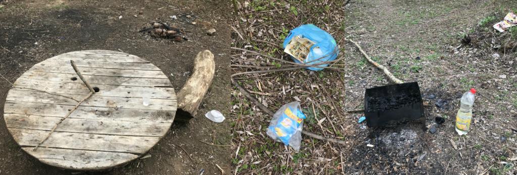 Любители майских шашлыков оставляют после себя кучи мусора