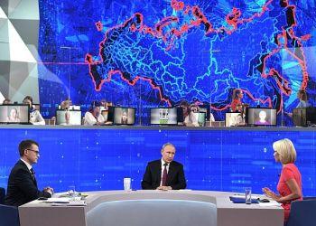 О социальной политике, экономике, лени и стыде: закончилась «Прямая линия» с Владимиром Путиным