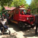 Благовещенцам показали раритетный пожарный автомобиль