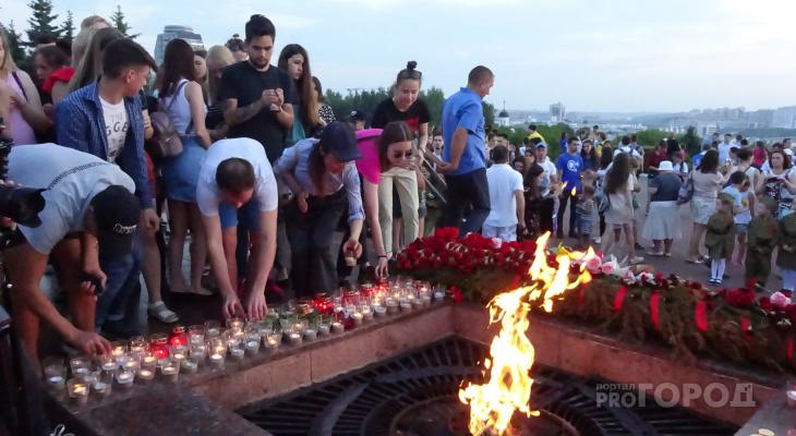 В Чебоксарах в День скорби зажгли сотни свечей