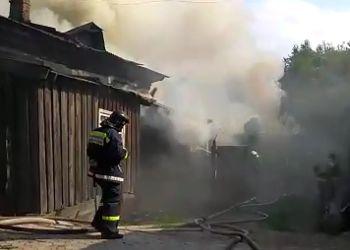 Жилой дом загорелся в центре Благовещенска