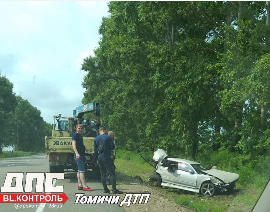 Под Белогорском Mark II влетел в дерево