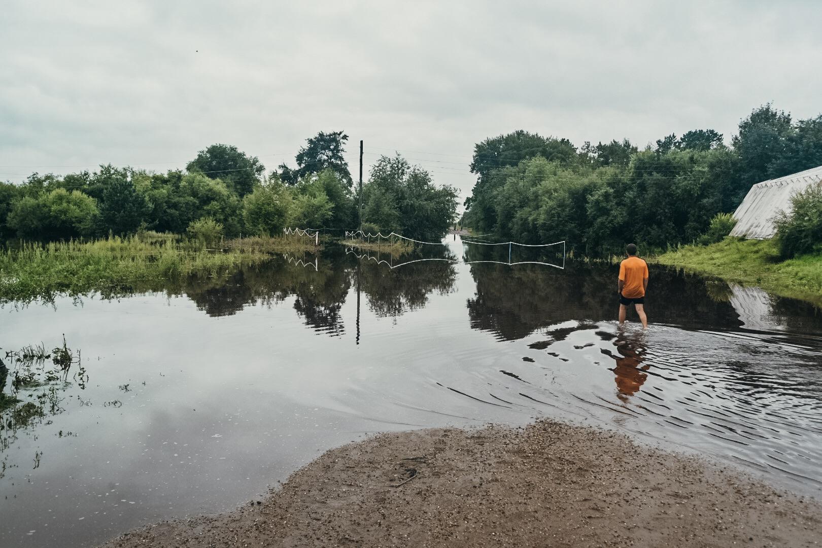 В Белогорске топит в основном дачные участки