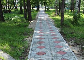 Новые дорожки появились в городском парке Свободного