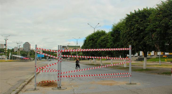 В Чебоксарах Красная площадь закрывается на ремонт