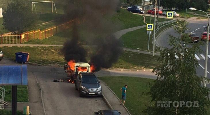 В Чувашии за сутки горели машины, гаражи и поля