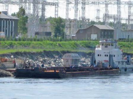 На Зейскую ГЭС привезли новый силовой трансформатор