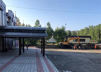 В Тынде реконструируют площадь перед драмтеатром