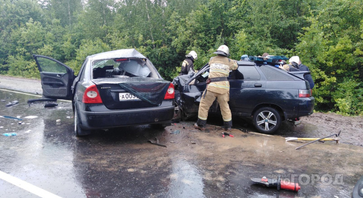 В ДТПв Марпосадском районе пострадало три человека