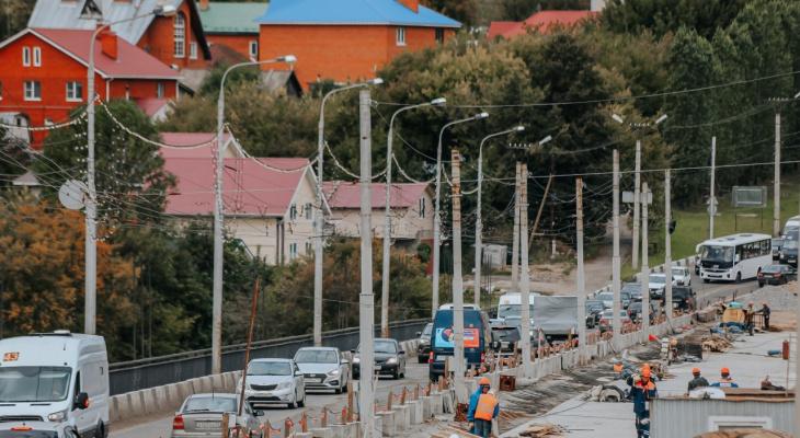 В Чебоксарах ремонт Сугутского моста отстает от графика на три недели