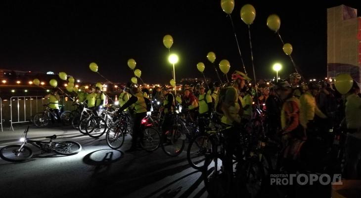 В Чебоксарах состоялся ночной велопробег в честь Дня города