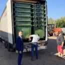 В Алатырский район привезли 156 мусорных контейнеров