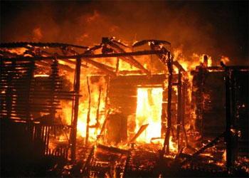 В Уруше на месте пожара обнаружено тело мужчины
