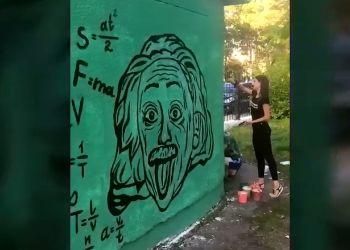 В Зее на автобусной остановке «поселились» Пушкин и Эйнштейн