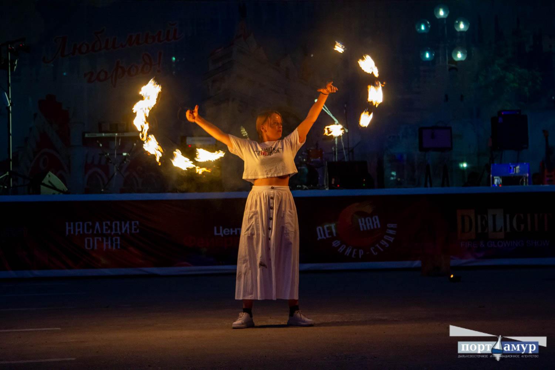 Огненные веера: в Благовещенске прошел «Blag Fire Fest»