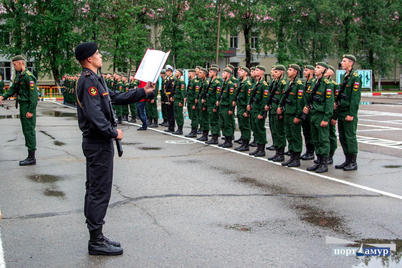 Первокурсники ДВОКУ приняли присягу
