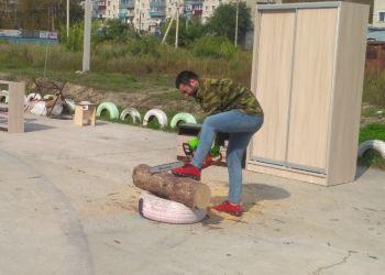 Битва дровосеков прошла в Белогорске