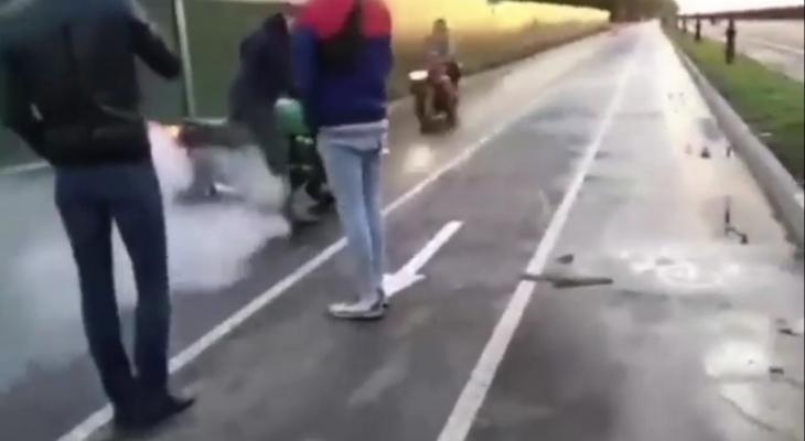 ДТП с двумя погибшими у яхтклуба Чебоксар попало на видео