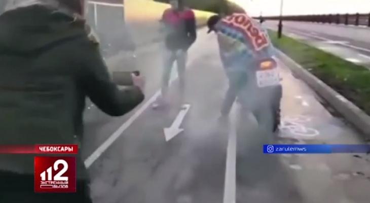 Сюжет о гибели байкера и девушки в Чебоксарах показали на РЕН ТВ