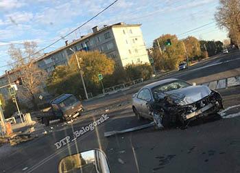 В Белогорске ранним утром произошло жесткое ДТП