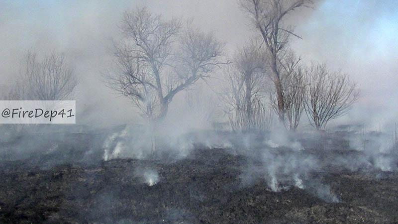 Вблизи села Ровное тушили крупный пал