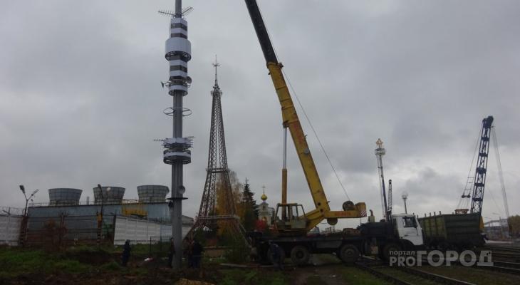 В Чебоксарах установили 31- метровую Останкинскую телебашню