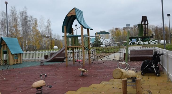 В Чебоксарах появилась первая экологическая детская площадка