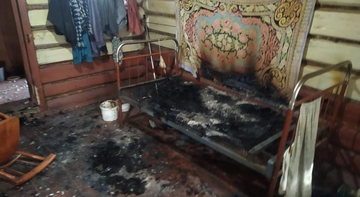 В Козловском районе в пожаре погиб мужчина