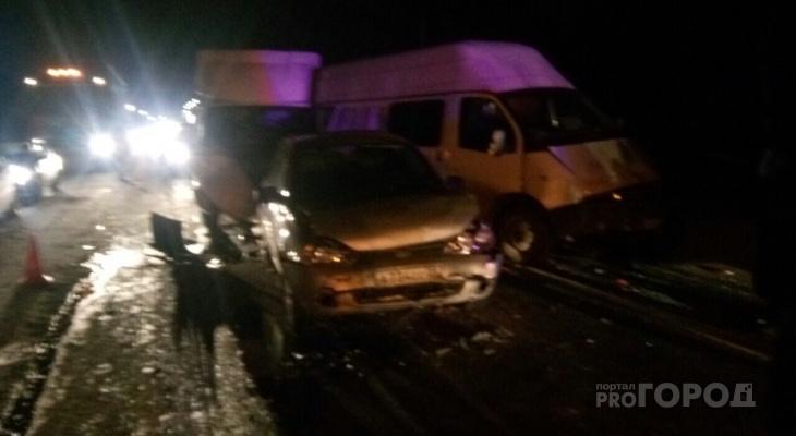Около Больших Карачур произошло ДТП с участием пяти автомобилей