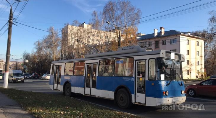 Пассажирка троллейбуса: