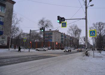Новый светофор заработал в Белогорске