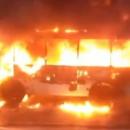Пассажирский автобус сгорел дотла в Благовещенске