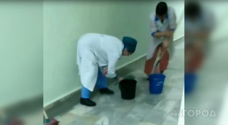 Стационар чебоксарской больницы затопило горячей водой