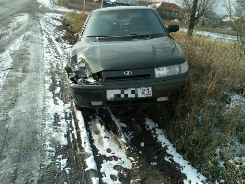 В Чувашии утром пьяный водитель мотоблока влетел в легковушку