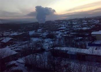 В Тынде произошел крупный пожар
