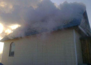 В Белогорском районе дотла сгорел дом