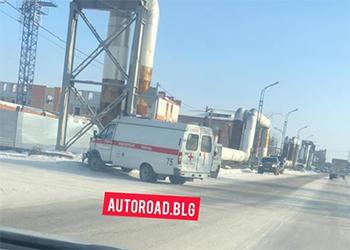 Автомобиль «скорой» попал в ДТП в Благовещенске